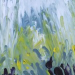 Hinan zum Hirtenturm, 2013, Acryl auf Platte, 75x26 cm