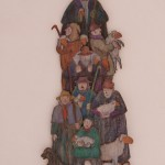 Franz-Josef Kochs, Haus (Am Hirtenturm) Pappe, Wachs-und Buntstift  2013  50x80
