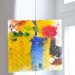 Inselleben, 2014, Aquarell und Wachs auf Papier 20 x 18 cm