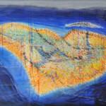 Inselleben1, 2014, Acryl auf Leinwand, 120 x 150 cm