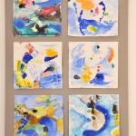 Zyklus zum Inselleben mit Ultramarinblau, 2014, 70x50 cm