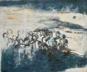 Gestrandet, 2013, Mischtechnik, 60x70 cm