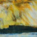 Wolfgang Vincent, Inselblick, 2014, Acryl auf Leinwand, 40x120 cm