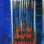 Wolfgang Vincent, Inselhafen, 2014, Acryl auf Leinwand, 140x100 cm