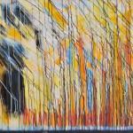 Wolfgang Vincent, aufrecht und verweht, 2014, Acryl auf Leinwand, 100x140 cm